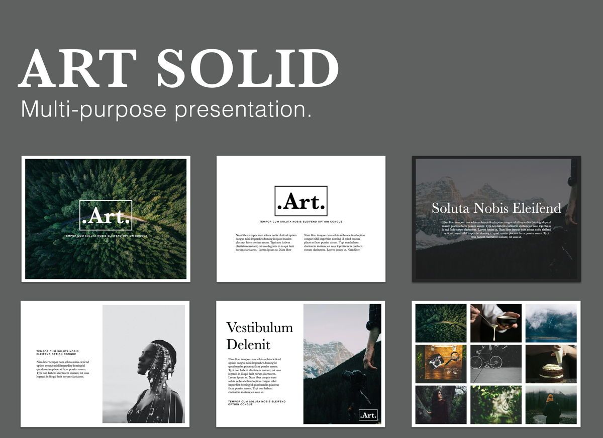 Art Solid Powerpoint Presentation Template, 05829, Presentation Templates — PoweredTemplate.com