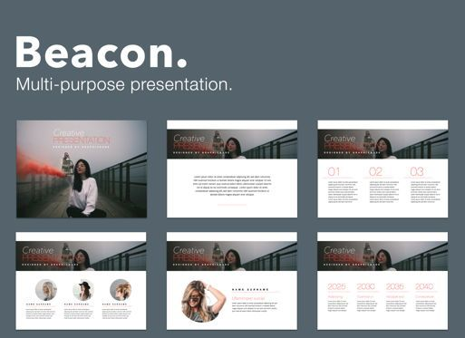 Presentation Templates: Beacon Powerpoint Presentation Template #05830
