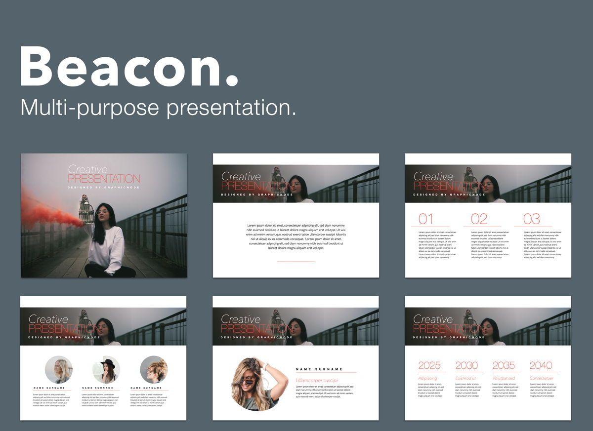 Beacon Powerpoint Presentation Template, 05830, Presentation Templates — PoweredTemplate.com