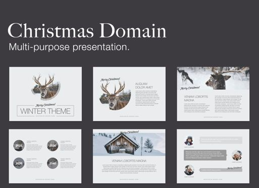 Presentation Templates: Christmas Domain Powerpoint Presentation Template #05831