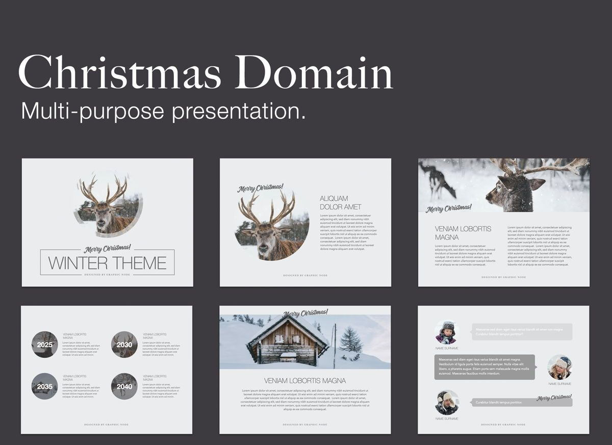 Christmas Domain Powerpoint Presentation Template, 05831, Presentation Templates — PoweredTemplate.com