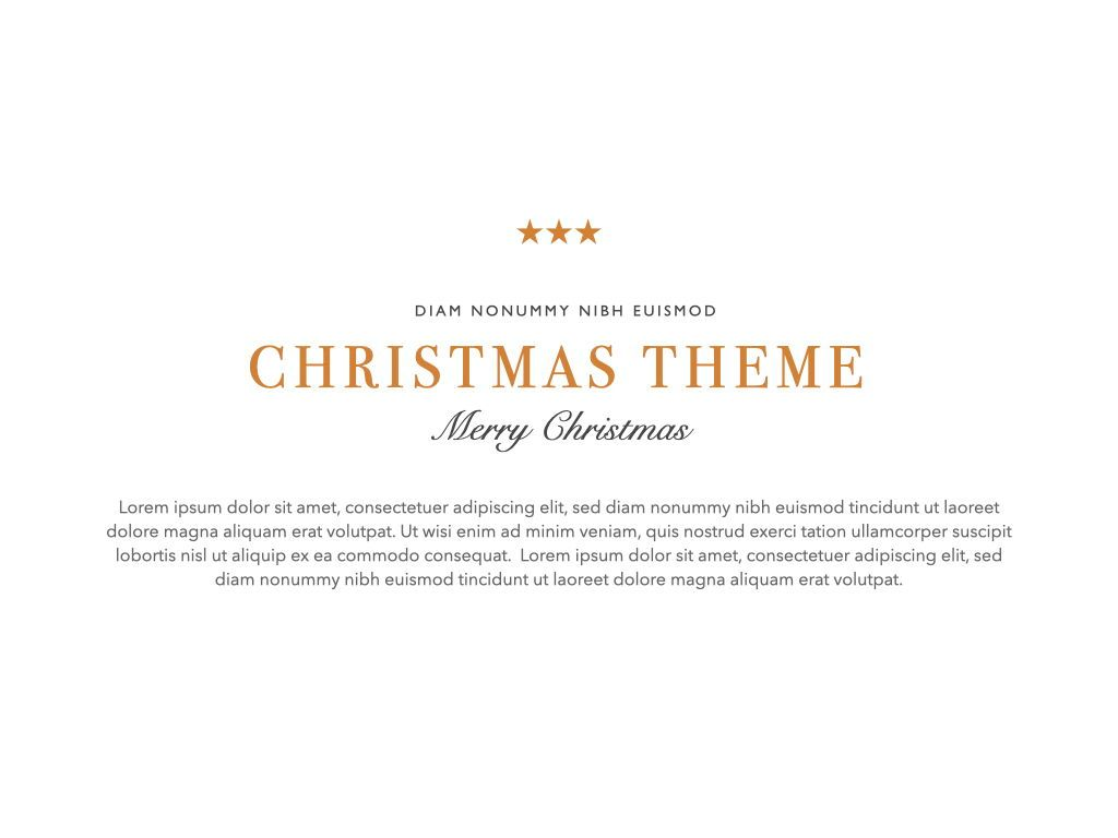 Christmas Lights Powerpoint Presentation Template, Slide 7, 05832, Presentation Templates — PoweredTemplate.com