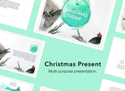 Presentation Templates: Christmas Present Powerpoint Presentation Template #05833