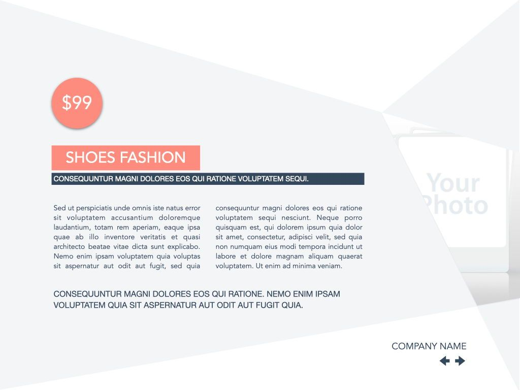 Coral Shapes Powerpoint Presentation Template, Slide 18, 05836, Presentation Templates — PoweredTemplate.com