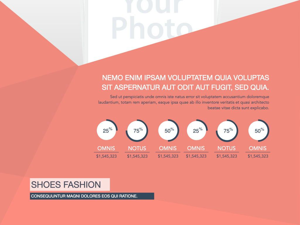 Coral Shapes Powerpoint Presentation Template, Slide 26, 05836, Presentation Templates — PoweredTemplate.com