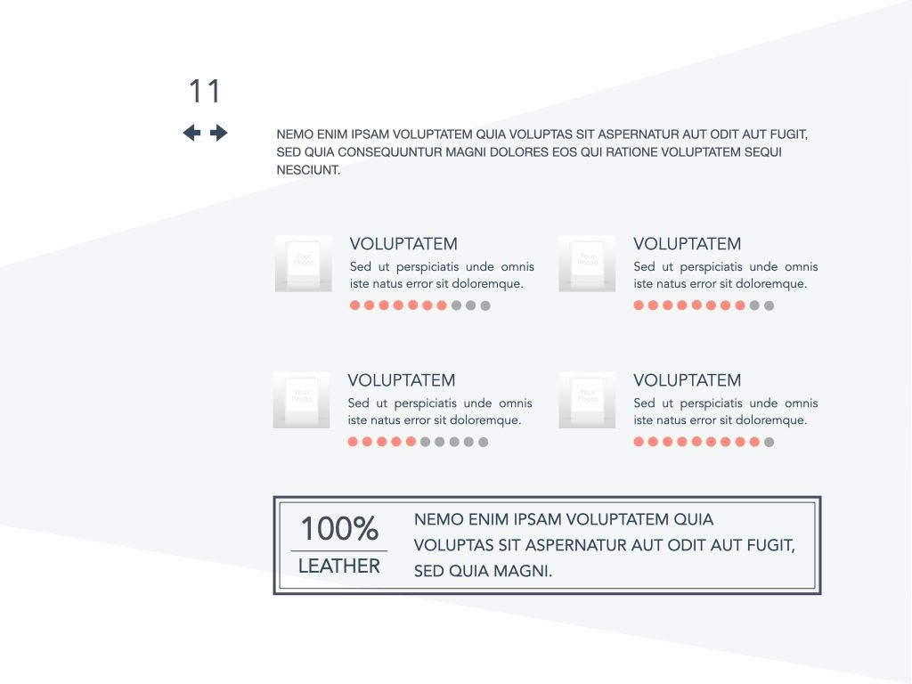 Coral Shapes Powerpoint Presentation Template, Slide 4, 05836, Presentation Templates — PoweredTemplate.com