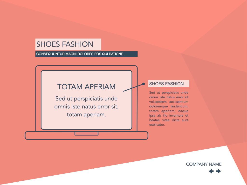 Coral Shapes Powerpoint Presentation Template, Slide 6, 05836, Presentation Templates — PoweredTemplate.com