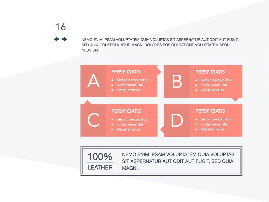 Coral Shapes Powerpoint Presentation Template, Slide 9, 05836, Presentation Templates — PoweredTemplate.com