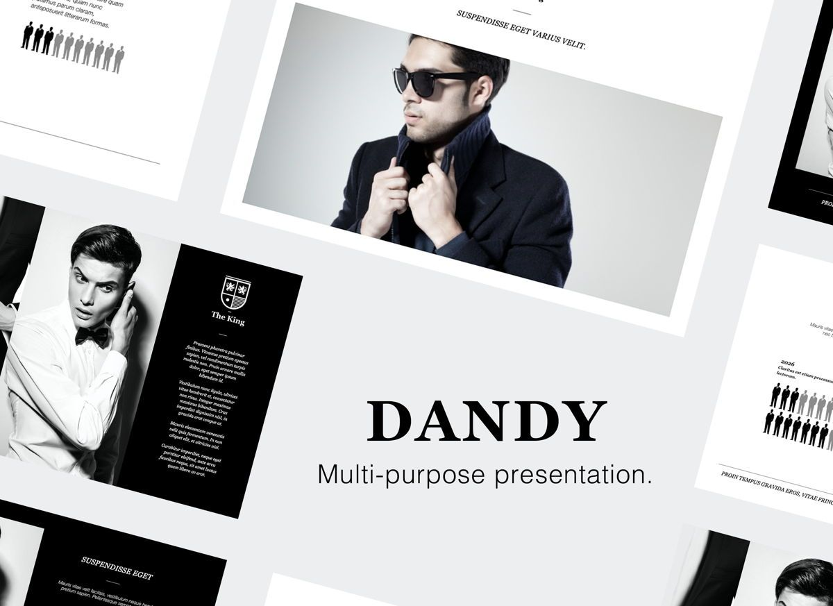 Dandy Powerpoint Presentation Template, 05837, Presentation Templates — PoweredTemplate.com