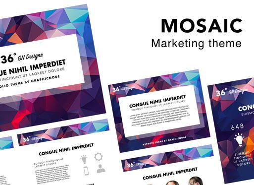 Presentation Templates: Mosaic Powerpoint Presentation Template #05838