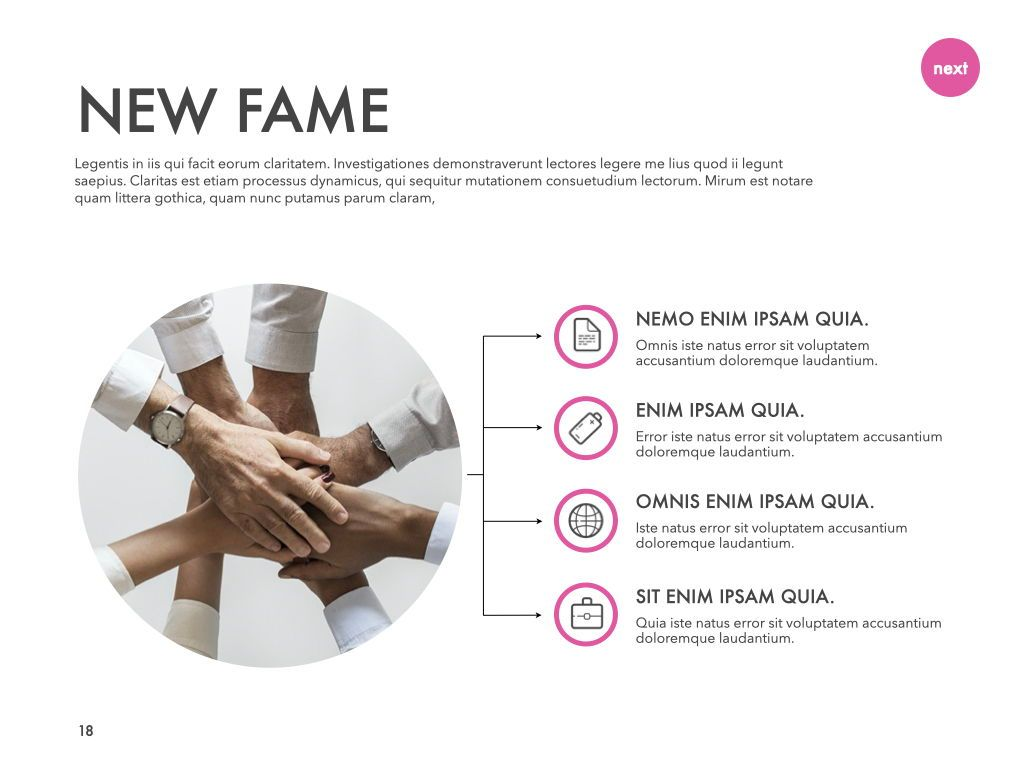 New Fame Powerpoint Presentation Template, Slide 11, 05840, Presentation Templates — PoweredTemplate.com
