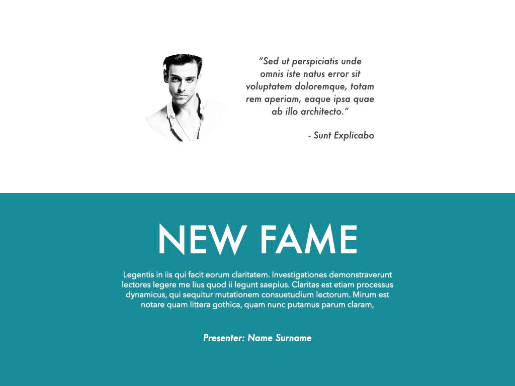 New Fame Powerpoint Presentation Template, Slide 12, 05840, Presentation Templates — PoweredTemplate.com