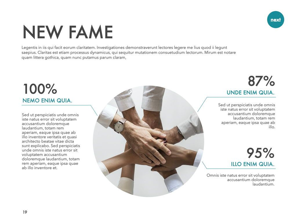 New Fame Powerpoint Presentation Template, Slide 13, 05840, Presentation Templates — PoweredTemplate.com