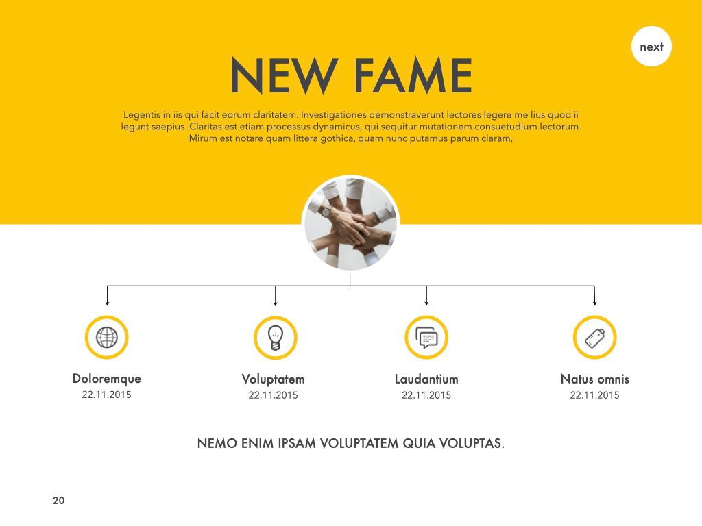 New Fame Powerpoint Presentation Template, Slide 14, 05840, Presentation Templates — PoweredTemplate.com