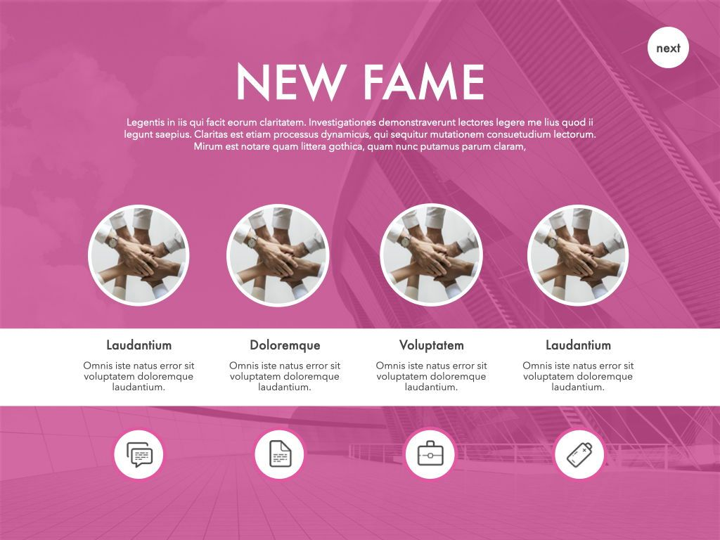 New Fame Powerpoint Presentation Template, Slide 15, 05840, Presentation Templates — PoweredTemplate.com