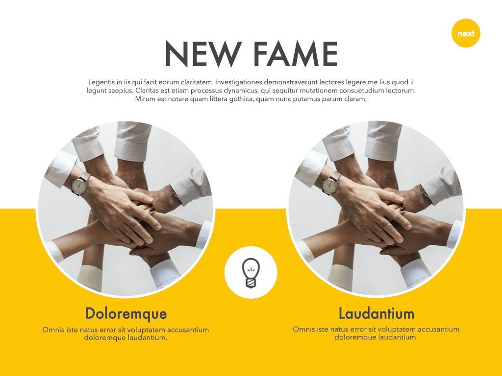 New Fame Powerpoint Presentation Template, Slide 17, 05840, Presentation Templates — PoweredTemplate.com