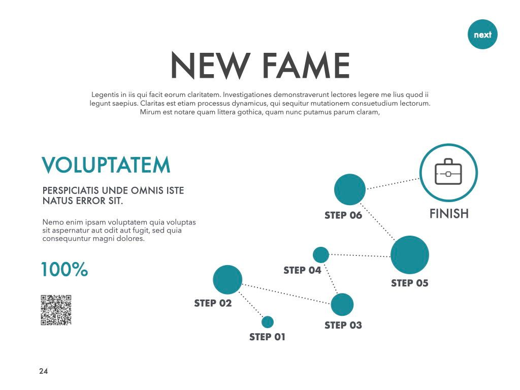 New Fame Powerpoint Presentation Template, Slide 18, 05840, Presentation Templates — PoweredTemplate.com