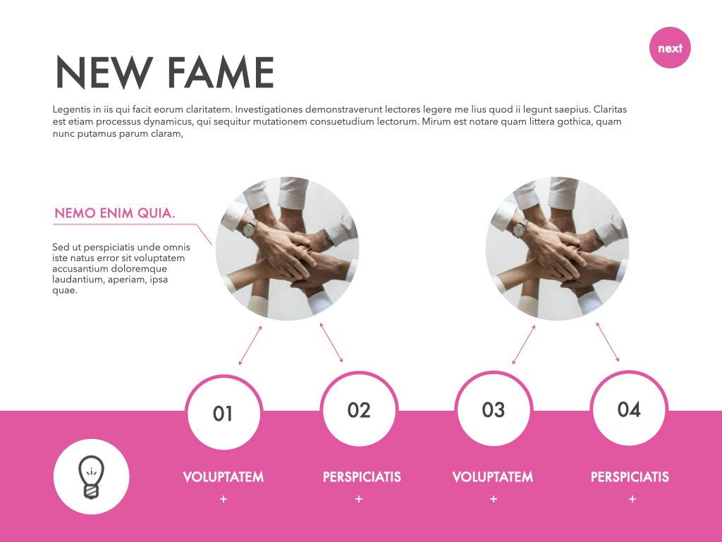 New Fame Powerpoint Presentation Template, Slide 2, 05840, Presentation Templates — PoweredTemplate.com