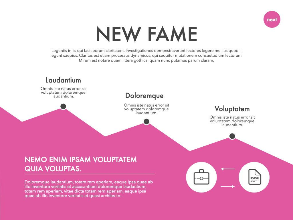 New Fame Powerpoint Presentation Template, Slide 20, 05840, Presentation Templates — PoweredTemplate.com