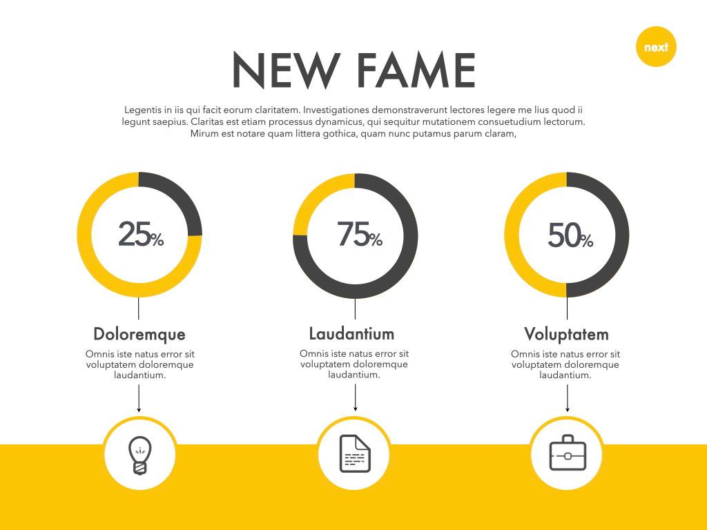 New Fame Powerpoint Presentation Template, Slide 21, 05840, Presentation Templates — PoweredTemplate.com