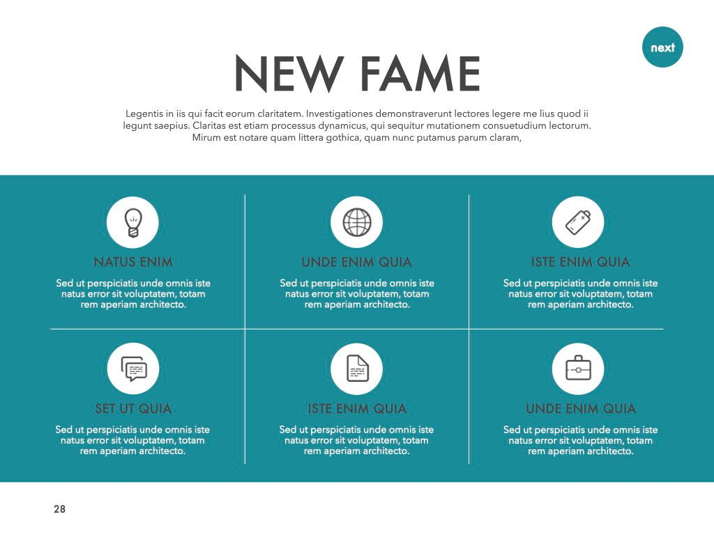 New Fame Powerpoint Presentation Template, Slide 22, 05840, Presentation Templates — PoweredTemplate.com