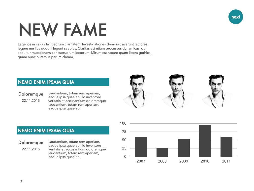 New Fame Powerpoint Presentation Template, Slide 23, 05840, Presentation Templates — PoweredTemplate.com