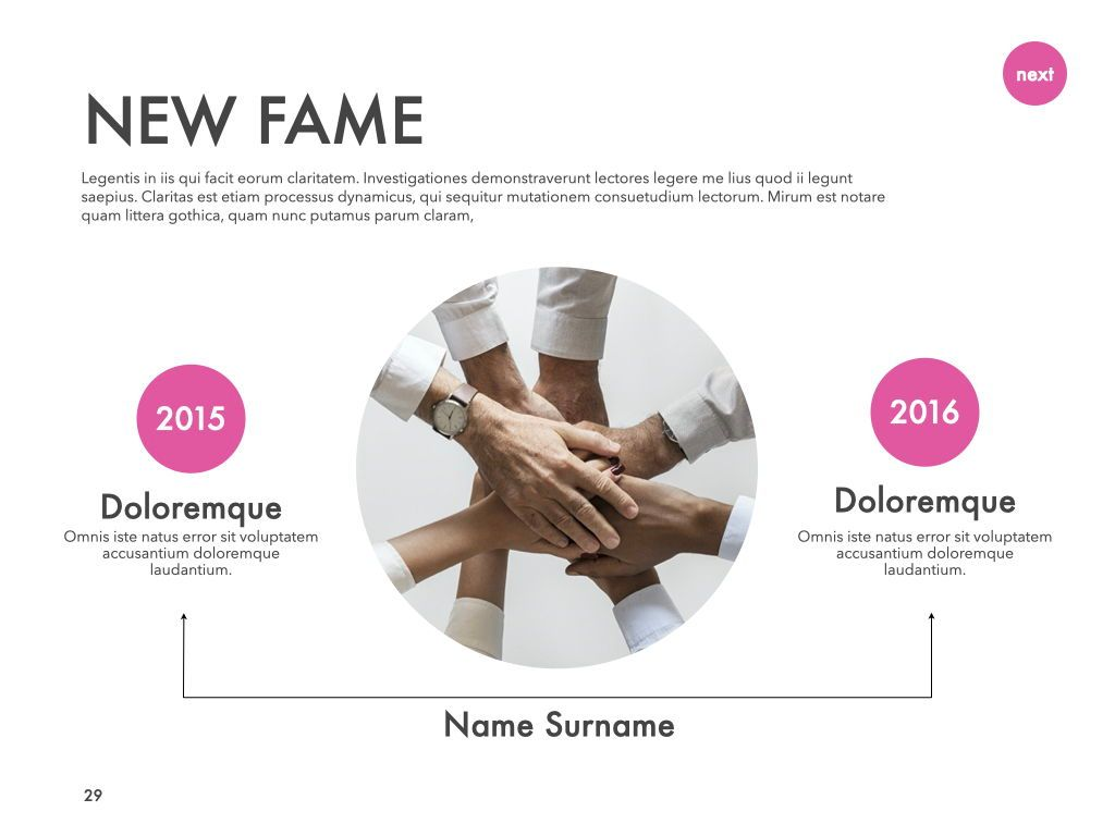 New Fame Powerpoint Presentation Template, Slide 24, 05840, Presentation Templates — PoweredTemplate.com