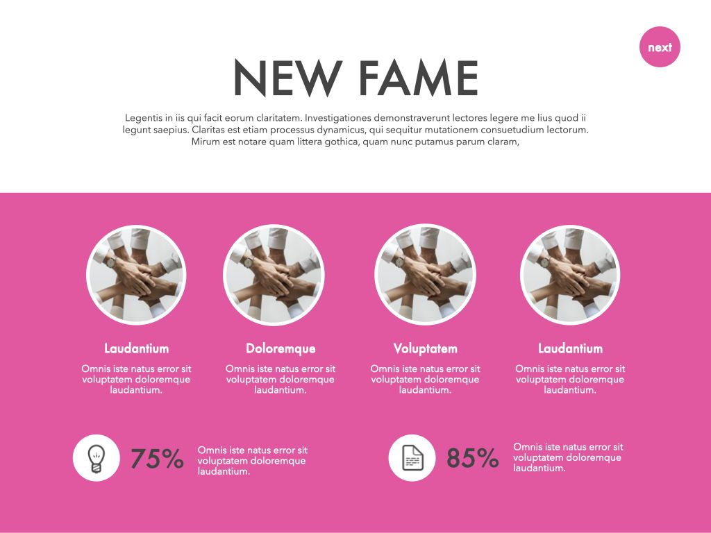 New Fame Powerpoint Presentation Template, Slide 25, 05840, Presentation Templates — PoweredTemplate.com
