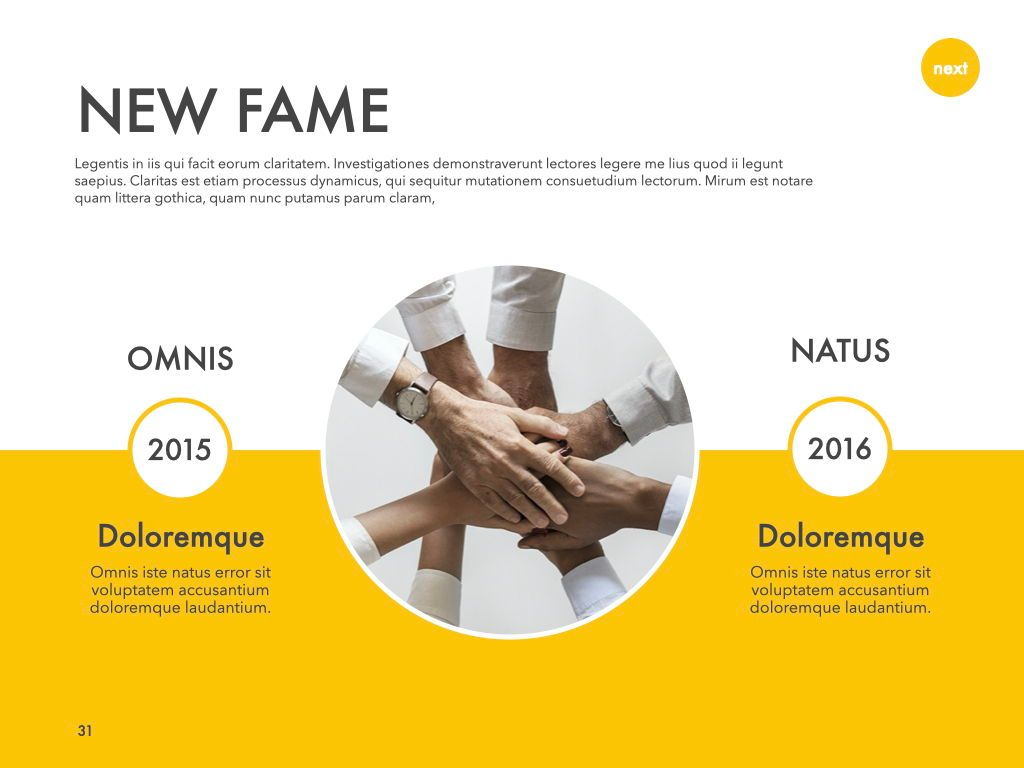New Fame Powerpoint Presentation Template, Slide 26, 05840, Presentation Templates — PoweredTemplate.com