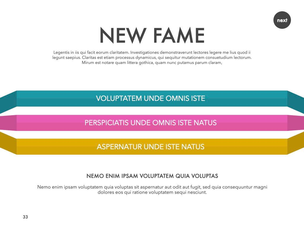 New Fame Powerpoint Presentation Template, Slide 28, 05840, Presentation Templates — PoweredTemplate.com