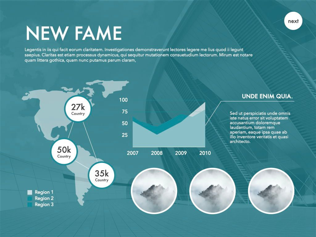 New Fame Powerpoint Presentation Template, Slide 29, 05840, Presentation Templates — PoweredTemplate.com