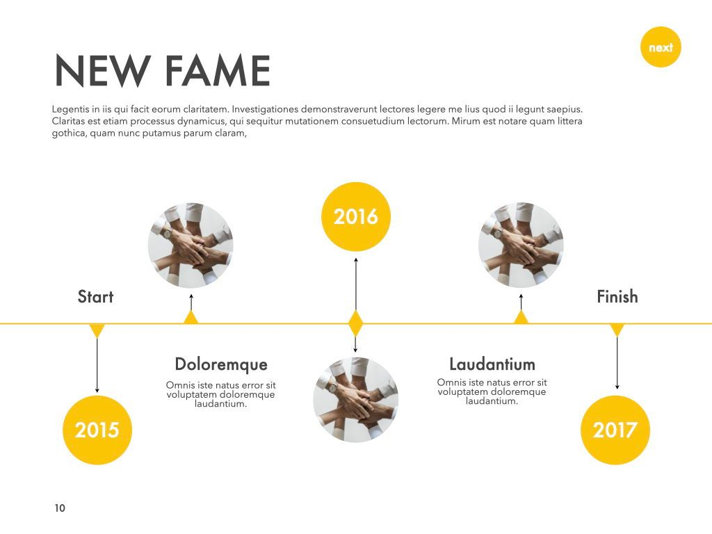 New Fame Powerpoint Presentation Template, Slide 3, 05840, Presentation Templates — PoweredTemplate.com