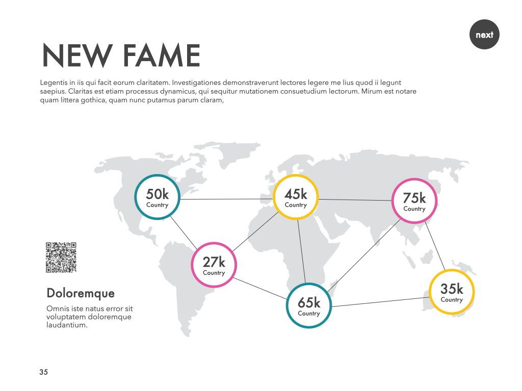 New Fame Powerpoint Presentation Template, Slide 30, 05840, Presentation Templates — PoweredTemplate.com