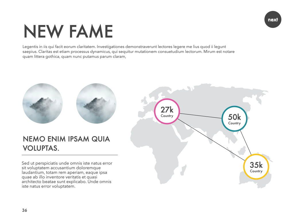New Fame Powerpoint Presentation Template, Slide 31, 05840, Presentation Templates — PoweredTemplate.com