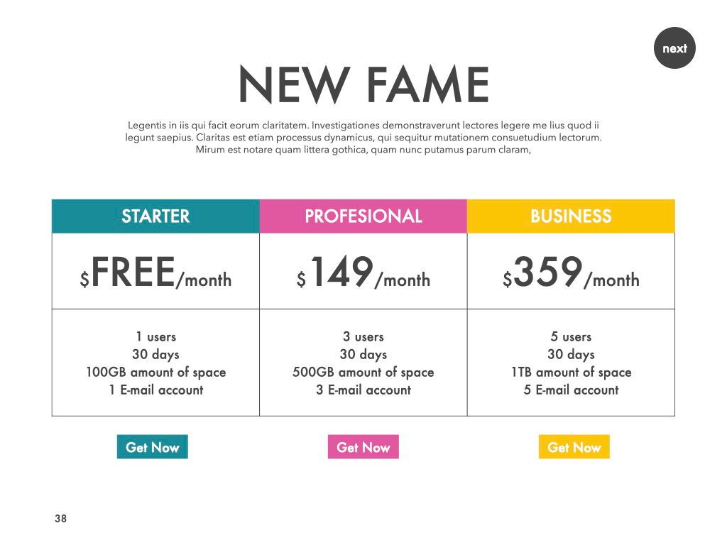 New Fame Powerpoint Presentation Template, Slide 33, 05840, Presentation Templates — PoweredTemplate.com