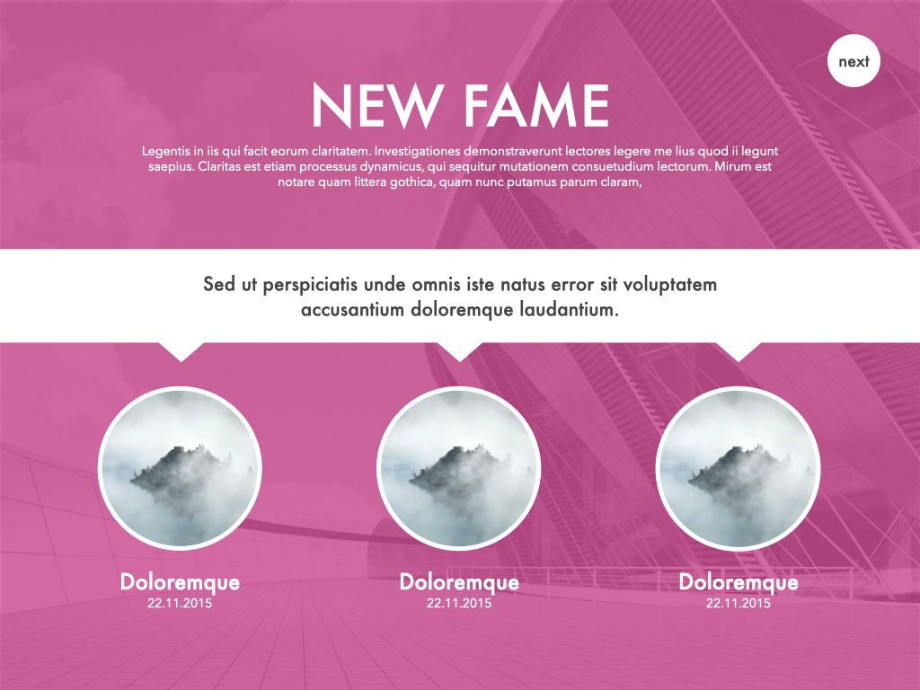 New Fame Powerpoint Presentation Template, Slide 34, 05840, Presentation Templates — PoweredTemplate.com