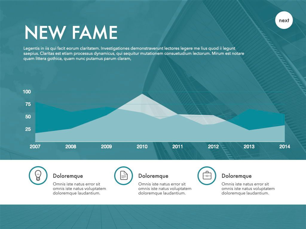New Fame Powerpoint Presentation Template, Slide 39, 05840, Presentation Templates — PoweredTemplate.com