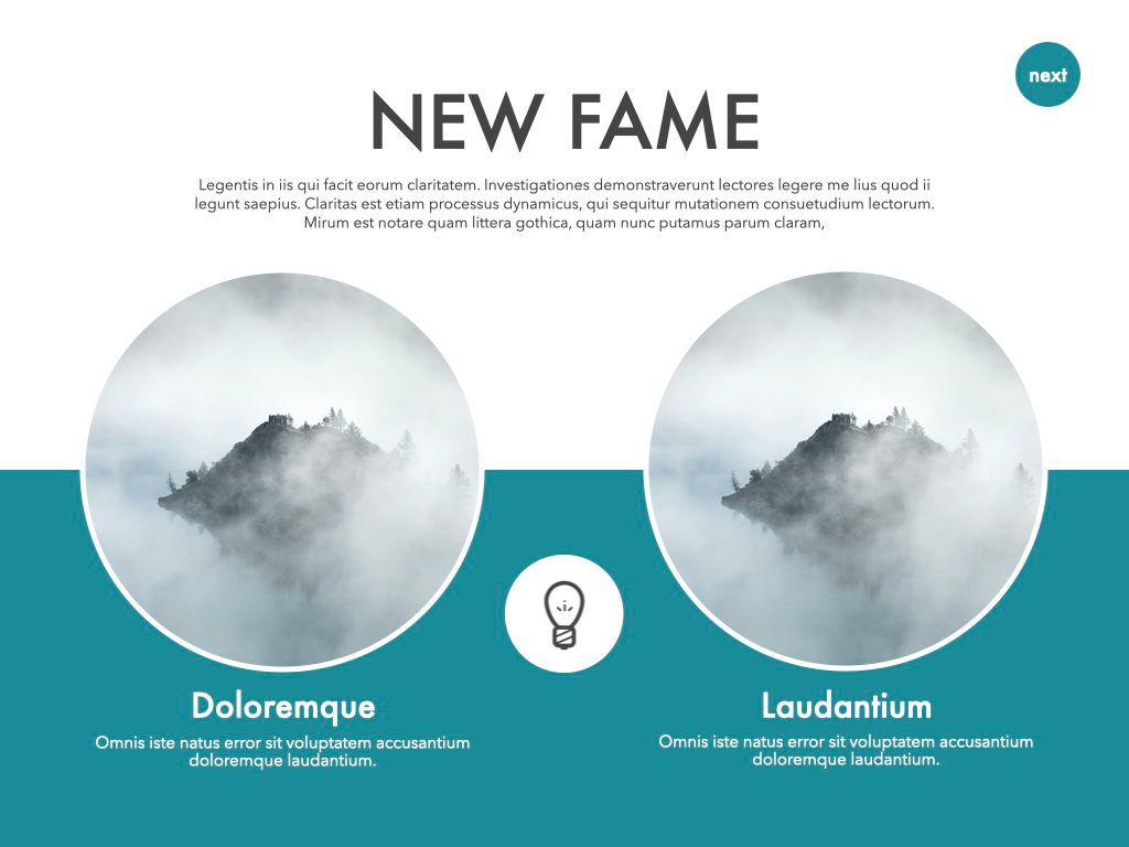 New Fame Powerpoint Presentation Template, Slide 4, 05840, Presentation Templates — PoweredTemplate.com