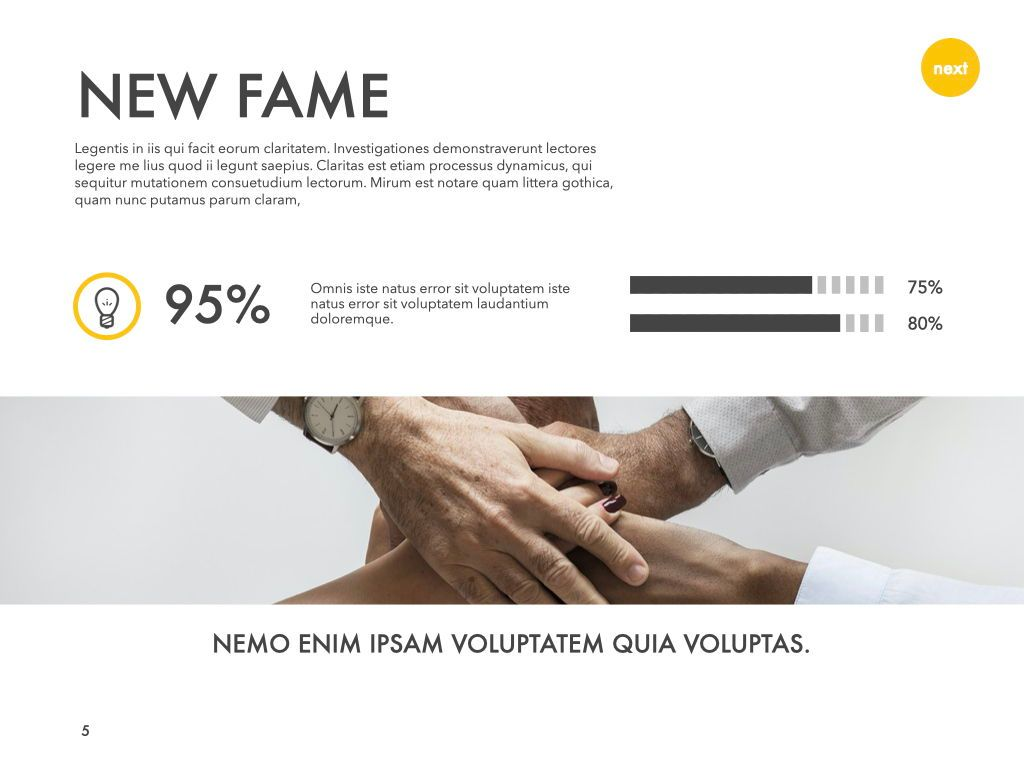 New Fame Powerpoint Presentation Template, Slide 52, 05840, Presentation Templates — PoweredTemplate.com