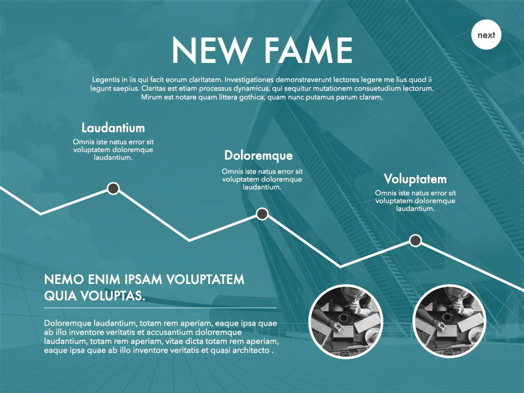 New Fame Powerpoint Presentation Template, Slide 53, 05840, Presentation Templates — PoweredTemplate.com