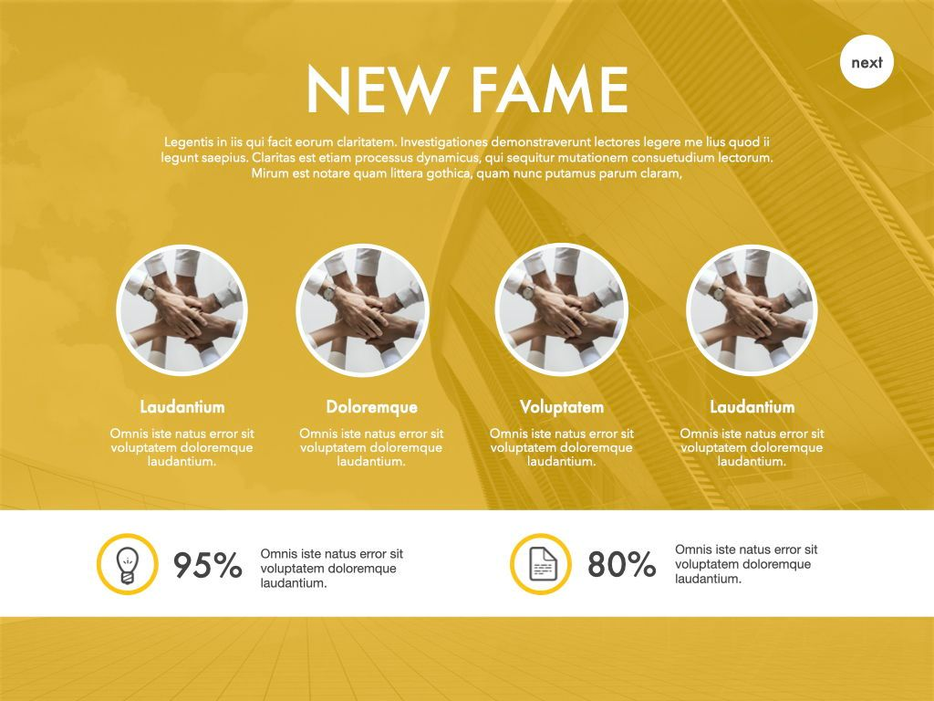 New Fame Powerpoint Presentation Template, Slide 54, 05840, Presentation Templates — PoweredTemplate.com