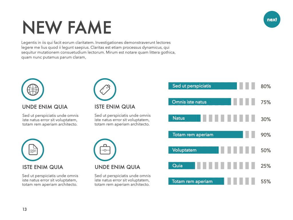 New Fame Powerpoint Presentation Template, Slide 6, 05840, Presentation Templates — PoweredTemplate.com
