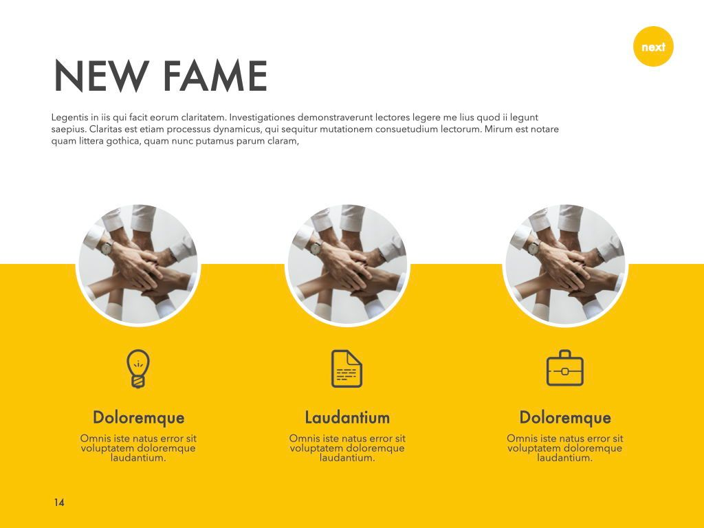 New Fame Powerpoint Presentation Template, Slide 7, 05840, Presentation Templates — PoweredTemplate.com