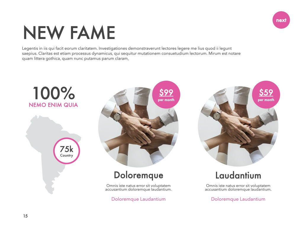 New Fame Powerpoint Presentation Template, Slide 8, 05840, Presentation Templates — PoweredTemplate.com