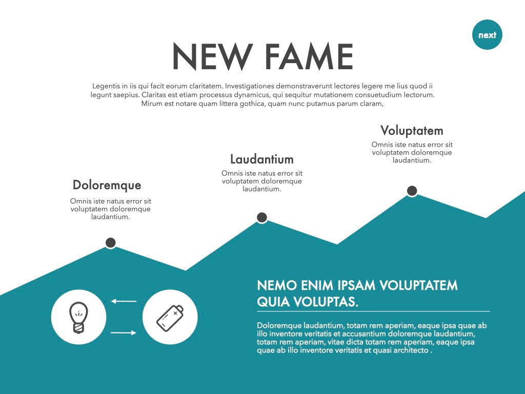 New Fame Powerpoint Presentation Template, Slide 9, 05840, Presentation Templates — PoweredTemplate.com