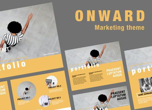 Presentation Templates: Onward Powerpoint Presentation Template #05841