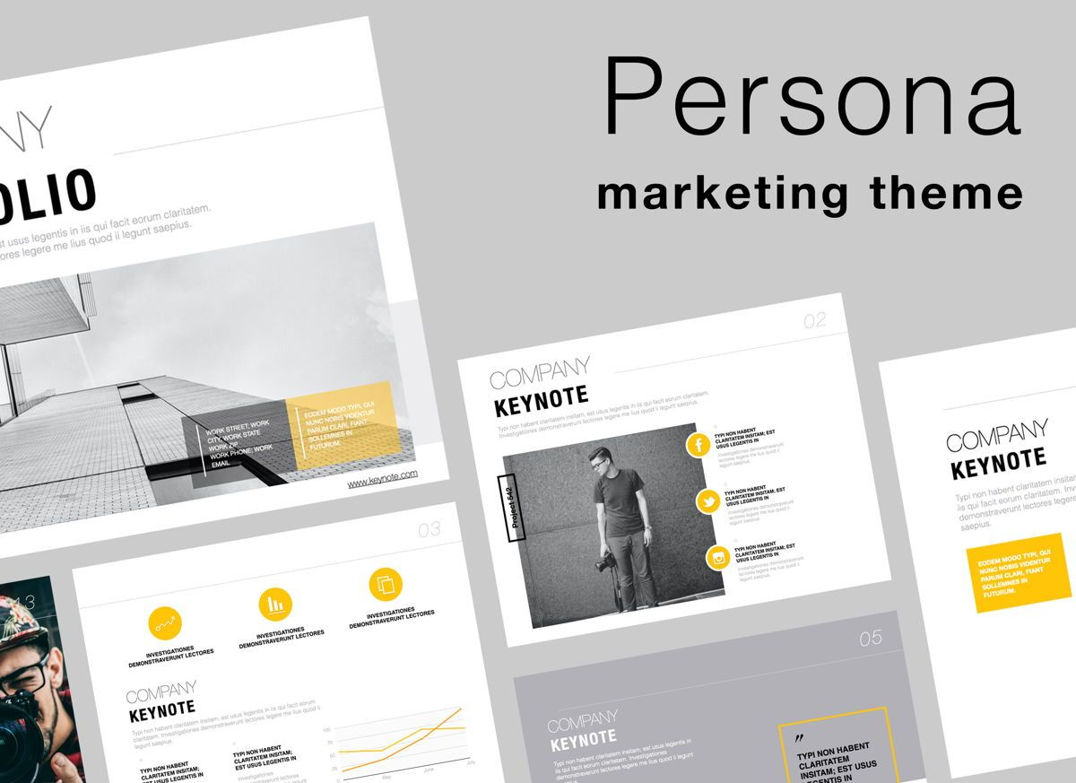 Persona Powerpoint Presentation Template, 05843, Presentation Templates — PoweredTemplate.com