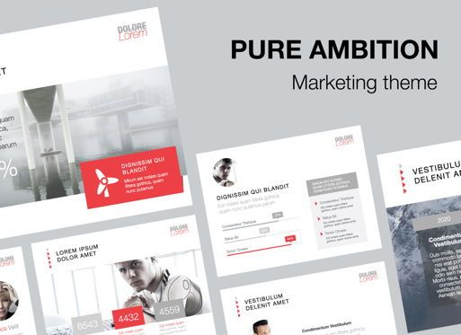 Presentation Templates: Pure Ambition Powerpoint Presentation Template #05846