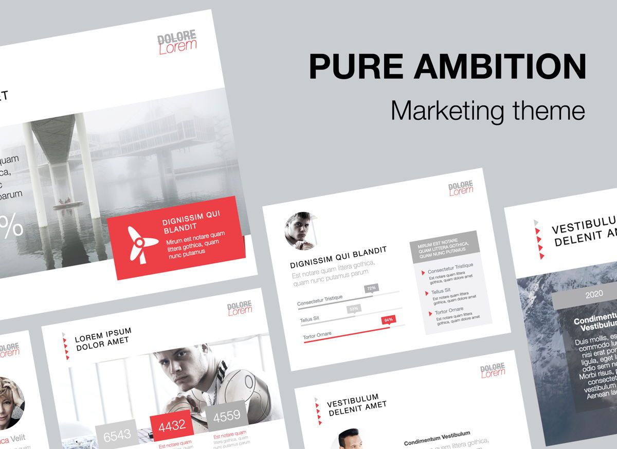 Pure Ambition Powerpoint Presentation Template, 05846, Presentation Templates — PoweredTemplate.com