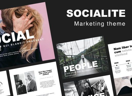 Presentation Templates: Socialite Powerpoint Presentation Template #05847